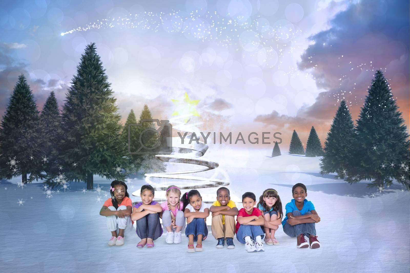 Composite image of cute children by Wavebreakmedia
