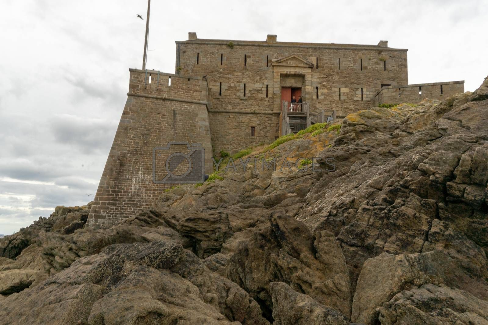 San Malo tourist attraction castle fort and water seascape