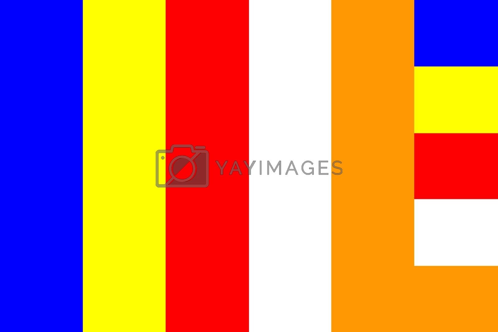 Buddhist flag International symbol Buddhism religion illustration