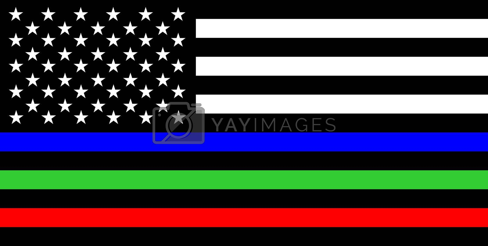 Royalty free image of thin lines flag by tony4urban