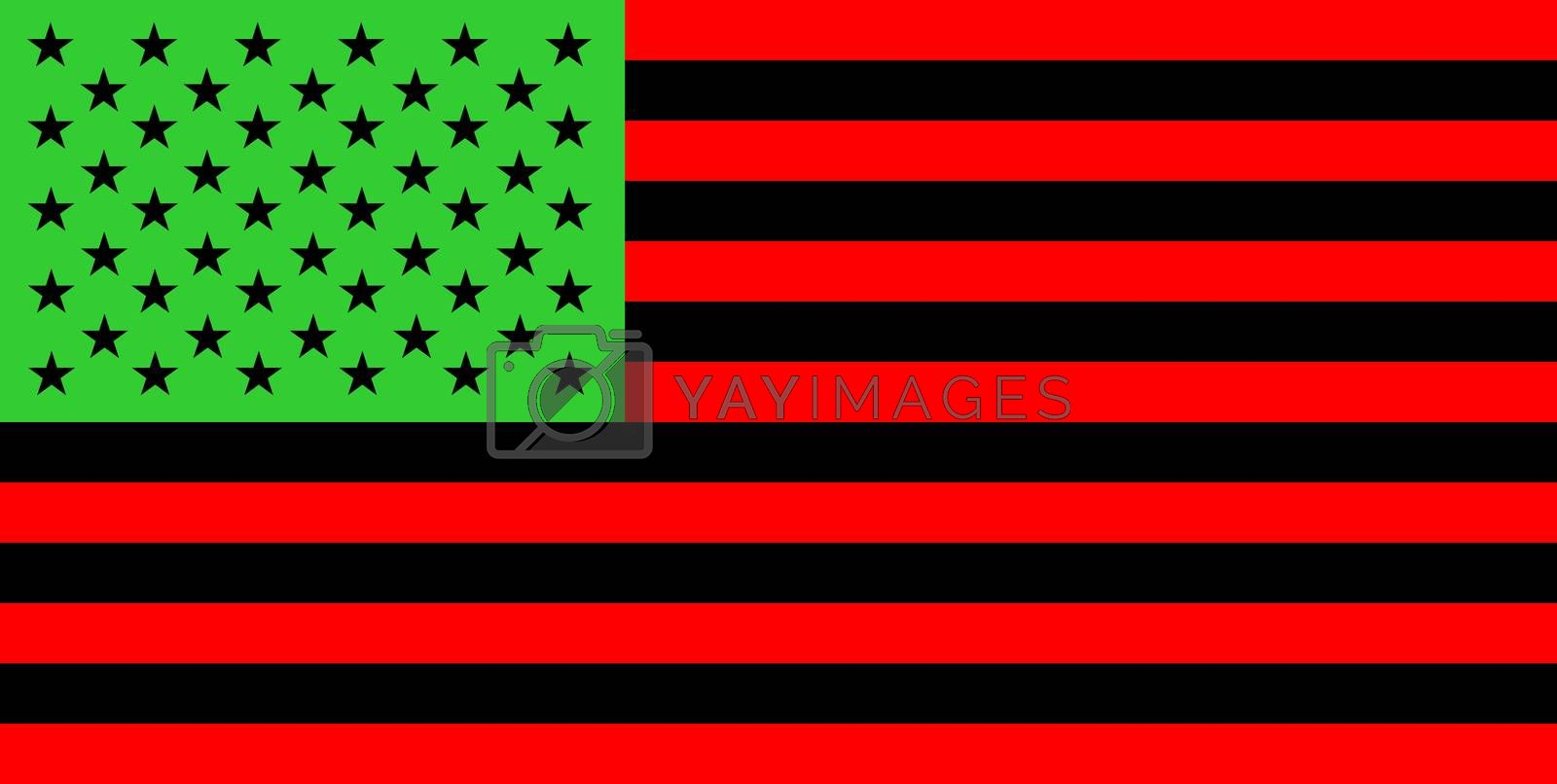 Royalty free image of Afro-American people flag by tony4urban