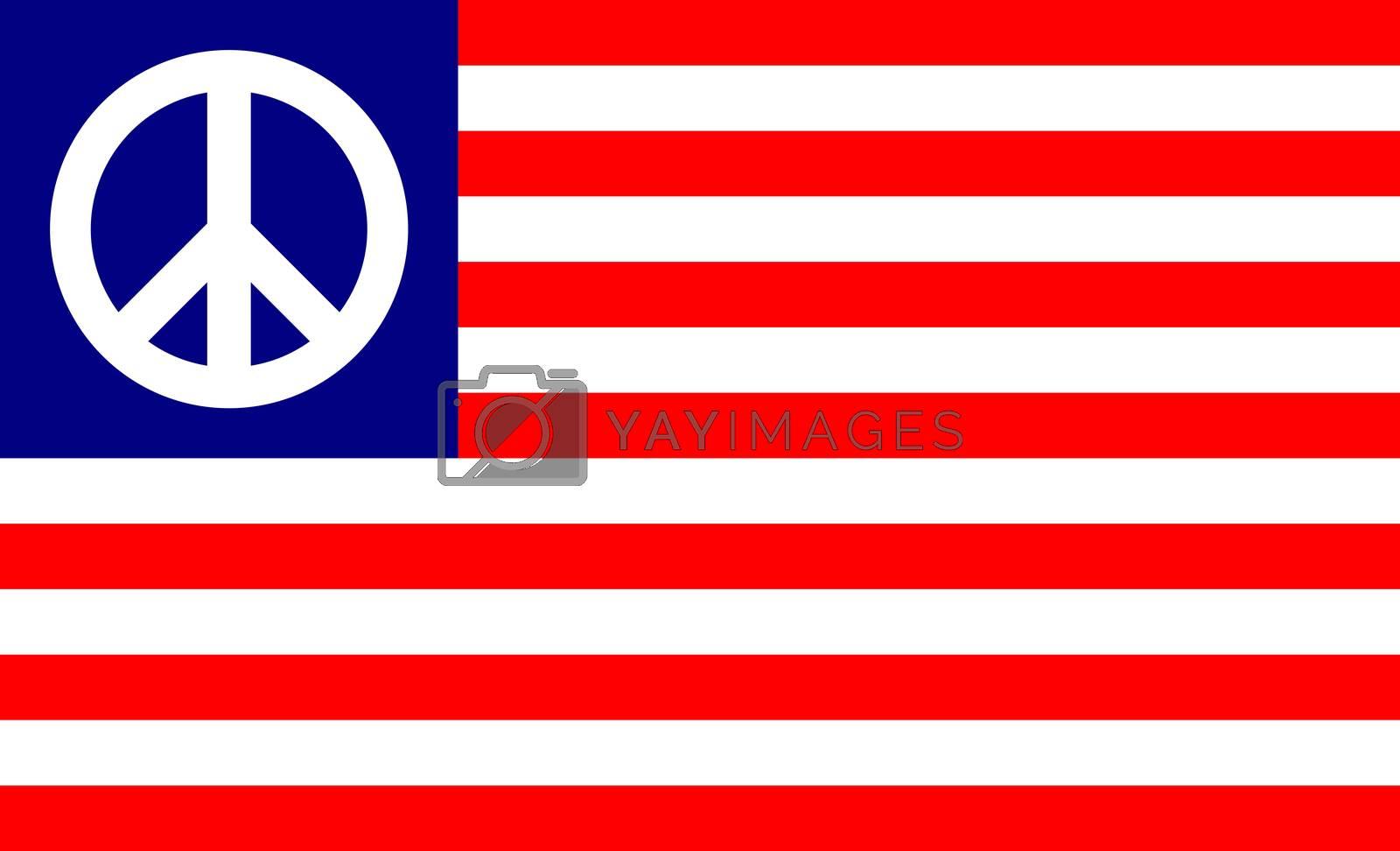 united states of america peace flag symbol illustration