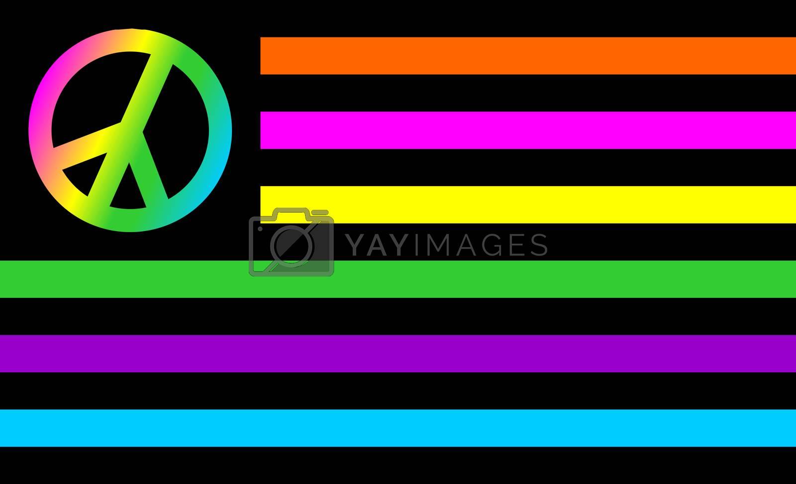 Royalty free image of usa peace flag by tony4urban