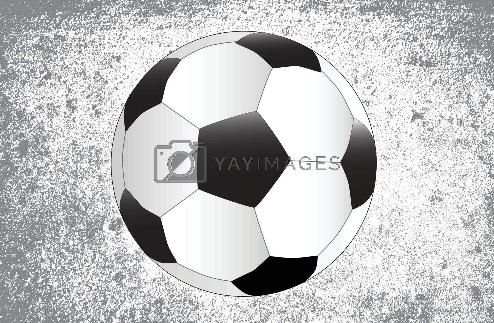 A new football over a darg grunge background