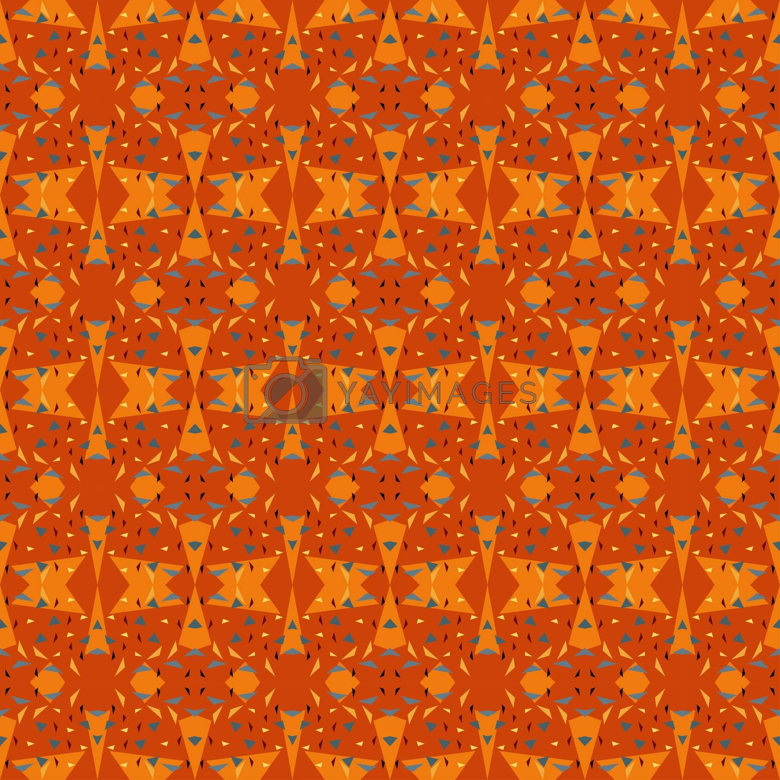 Abstract vector seamless geometric pattern for fabric, textile, wrapping paper, wallpaper, web design, background.