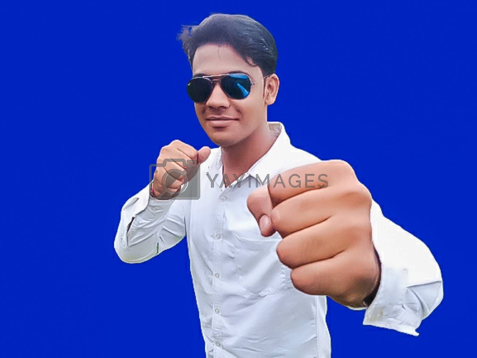 A picture of model in boxing move