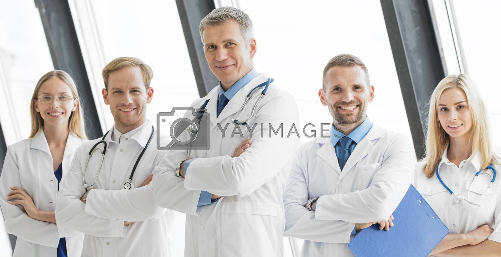 Team of medical professionals by Yellowj