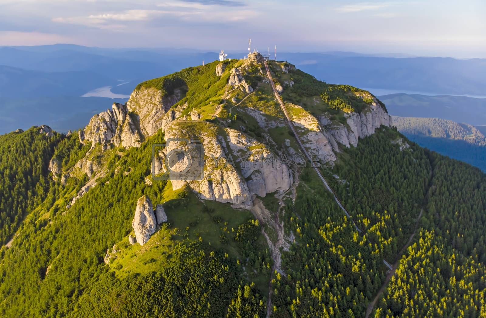 Royalty free image of Aerial view of mountain peak by savcoco