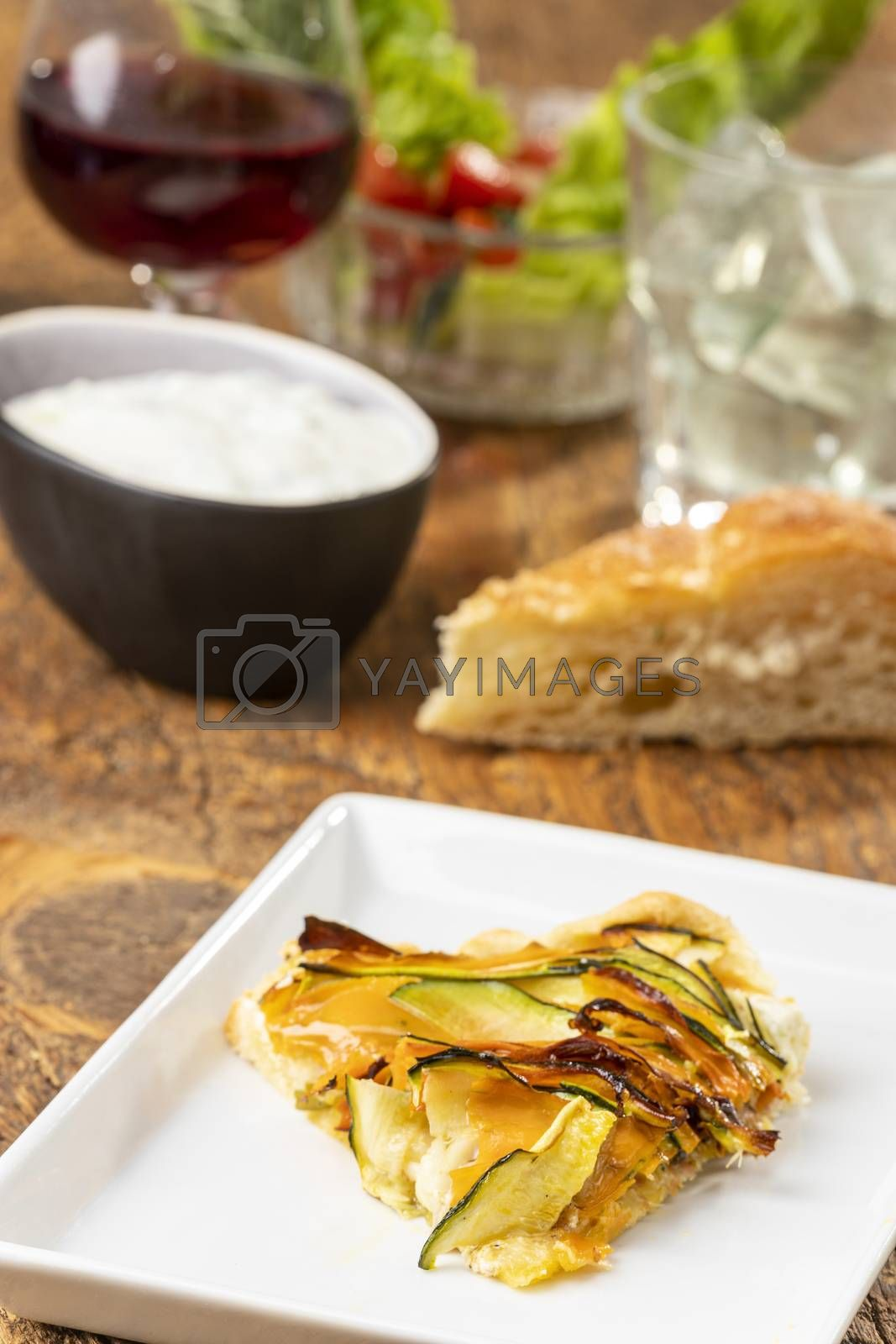 pie with carrots and zucchini by bernjuer