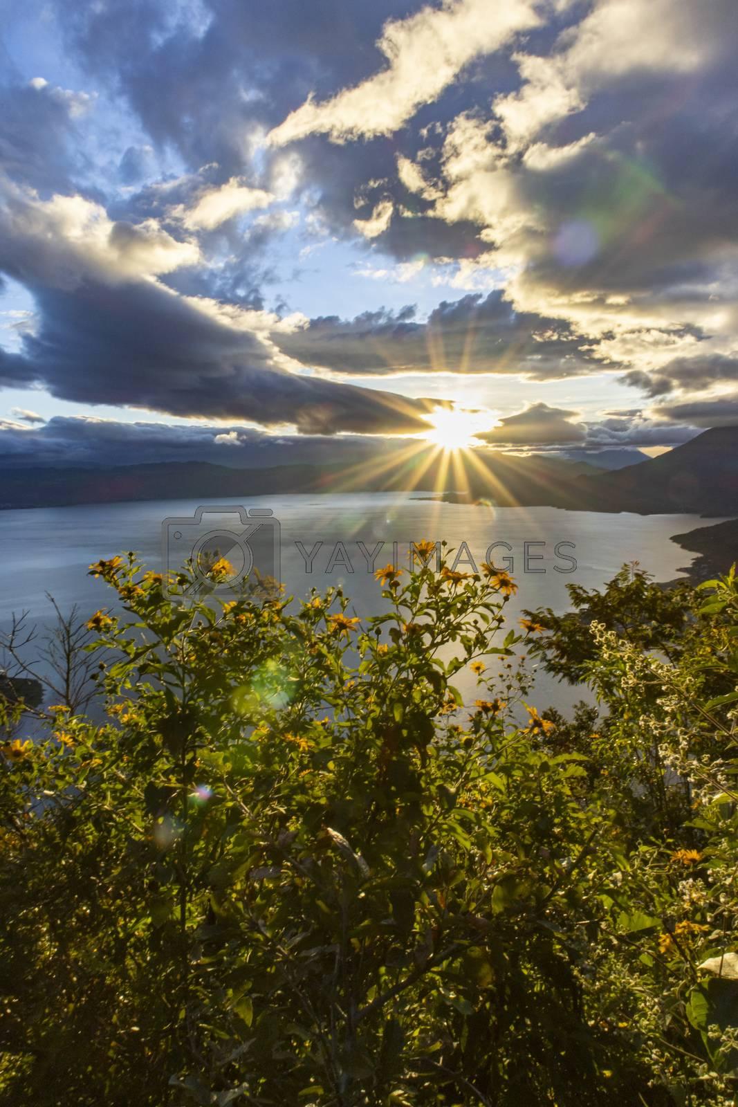 sunrise at lake atitlan by bernjuer