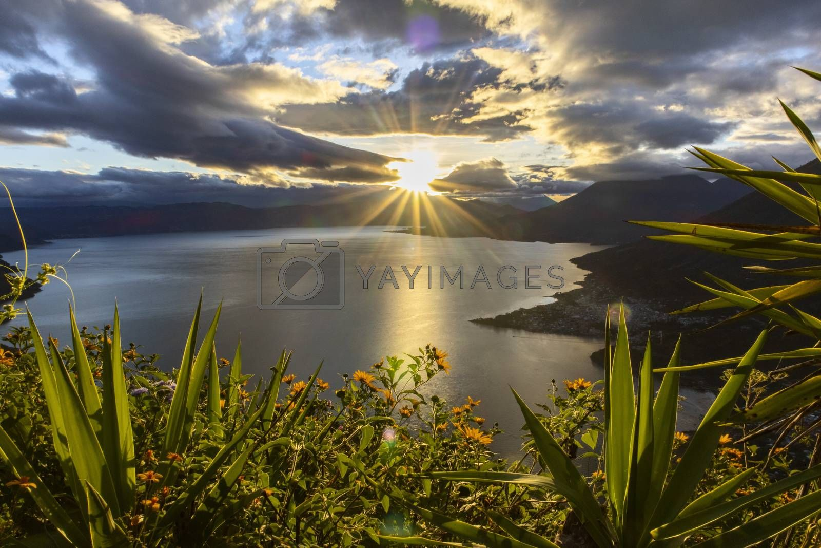 sunrise at lake atitlan by bernjuer