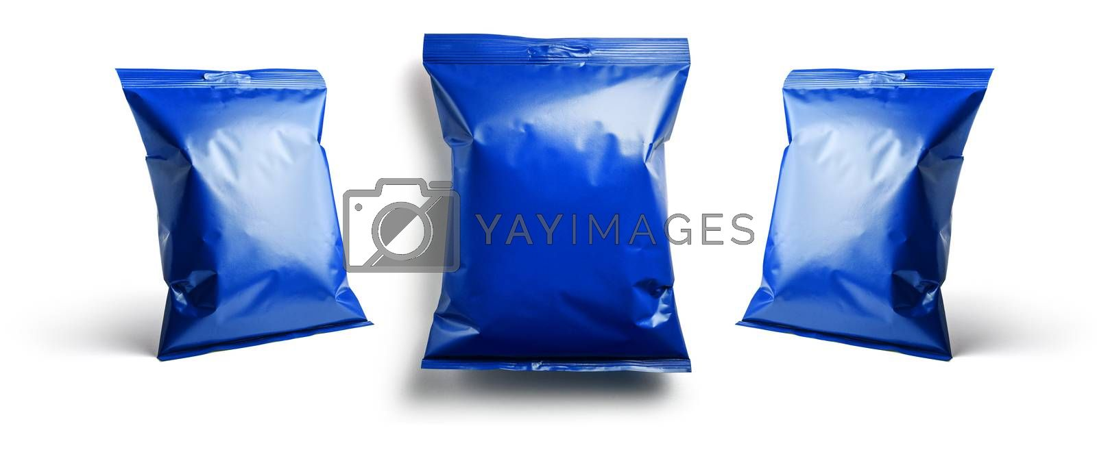 Blue packaging template for your design.