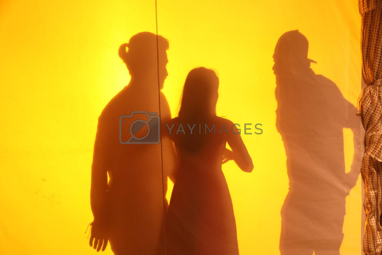 Lovers silhouette