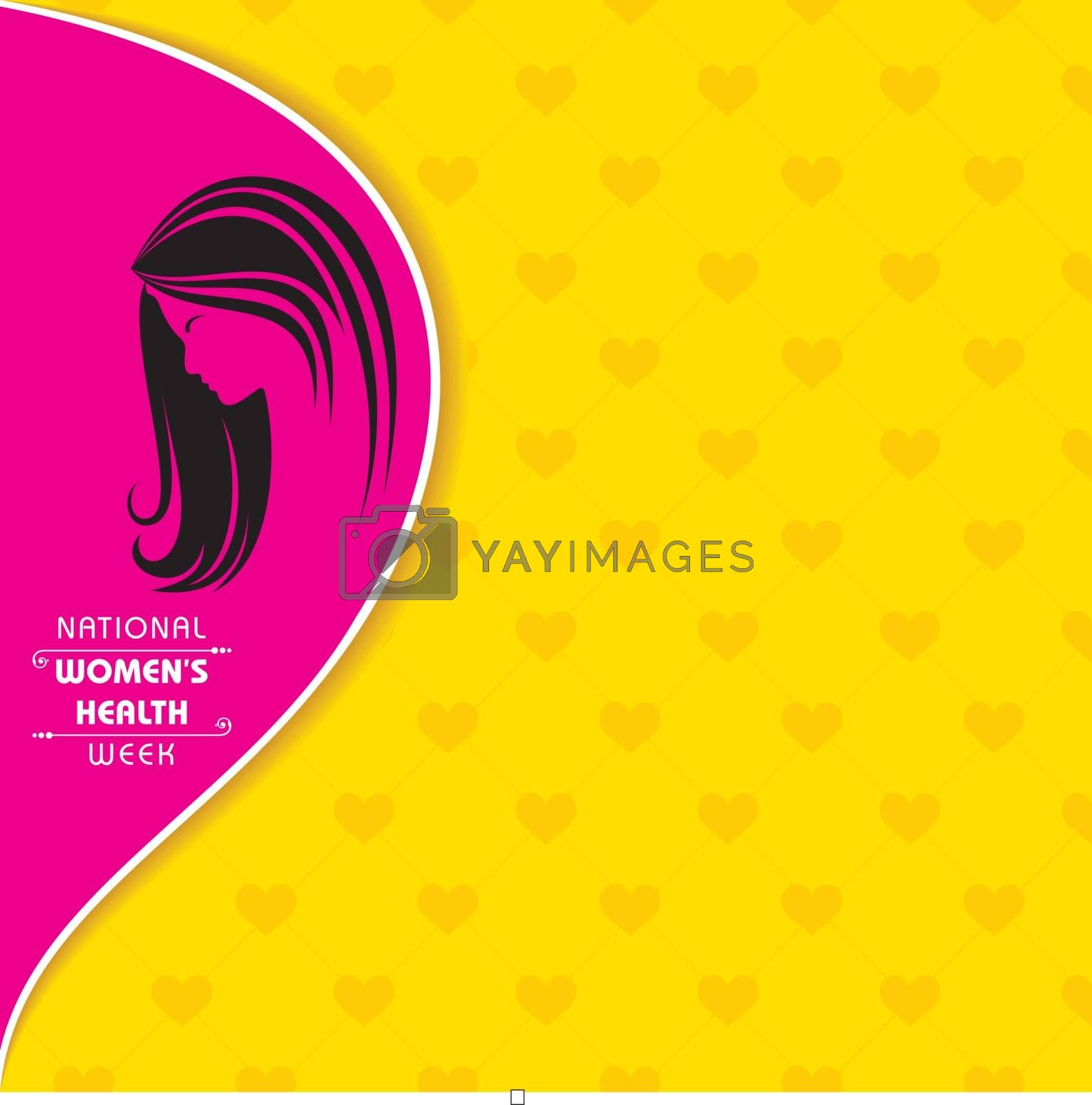 Vector illustration of National Women's health week begins on Mother's Day each year.