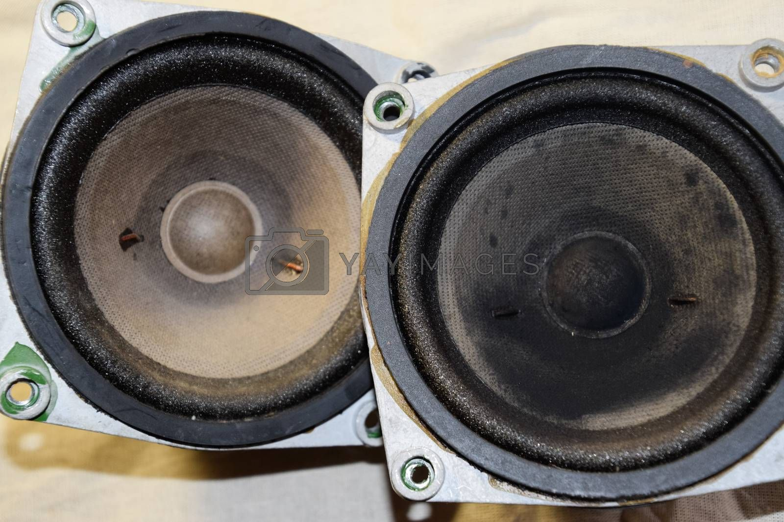 Medium-frequency speakers 20gds-3. Soviet vintage acoustics, elements of a music column.
