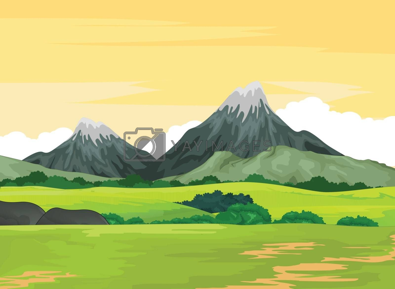 Royalty free image of Landscape Mountain View Background by sujono