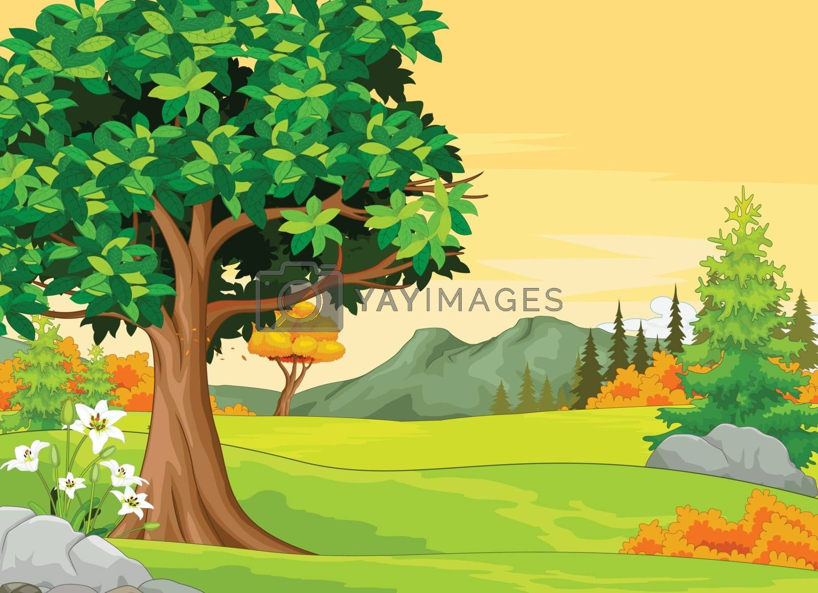 Royalty free image of Autumn Forets View Background by sujono