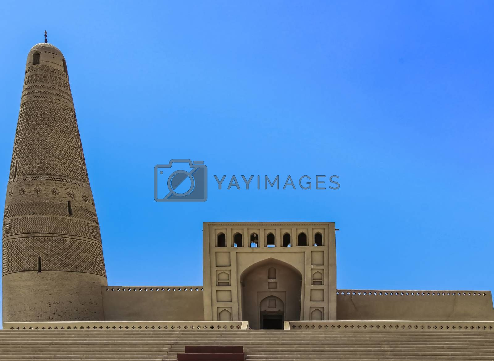 The Emin Minaret and mosque is a islamic building in Turpan, Xinjiang, China completed in 1778