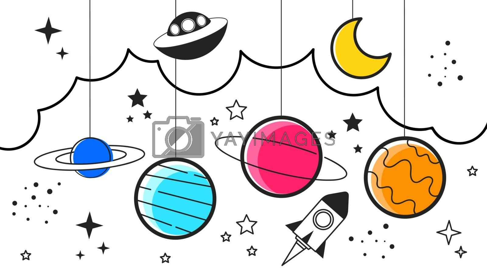 Space Galaxy Constellation Print Could Be Used Zodiac Star Yoga Mat by brylov