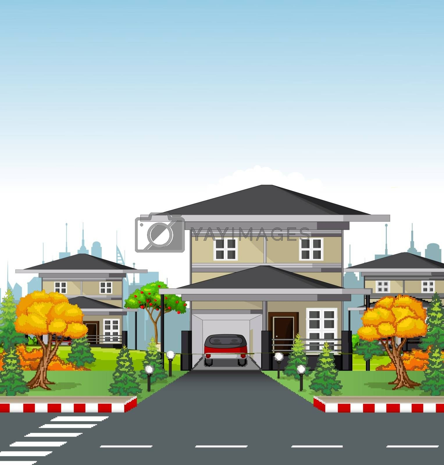 Royalty free image of Minimalist House With Road by sujono