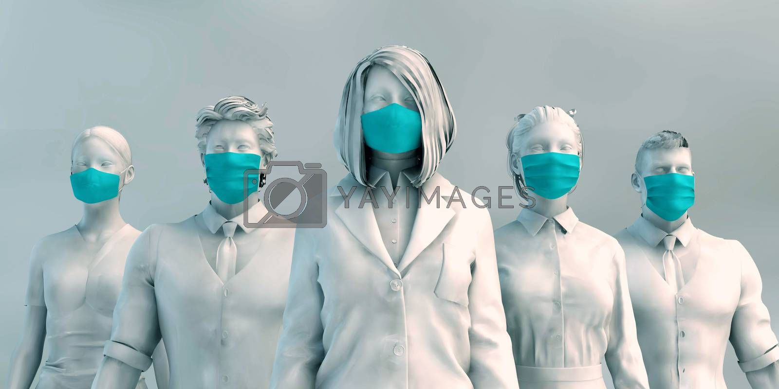 Health Workers Medical Staff Prepared to Fight Covid-19