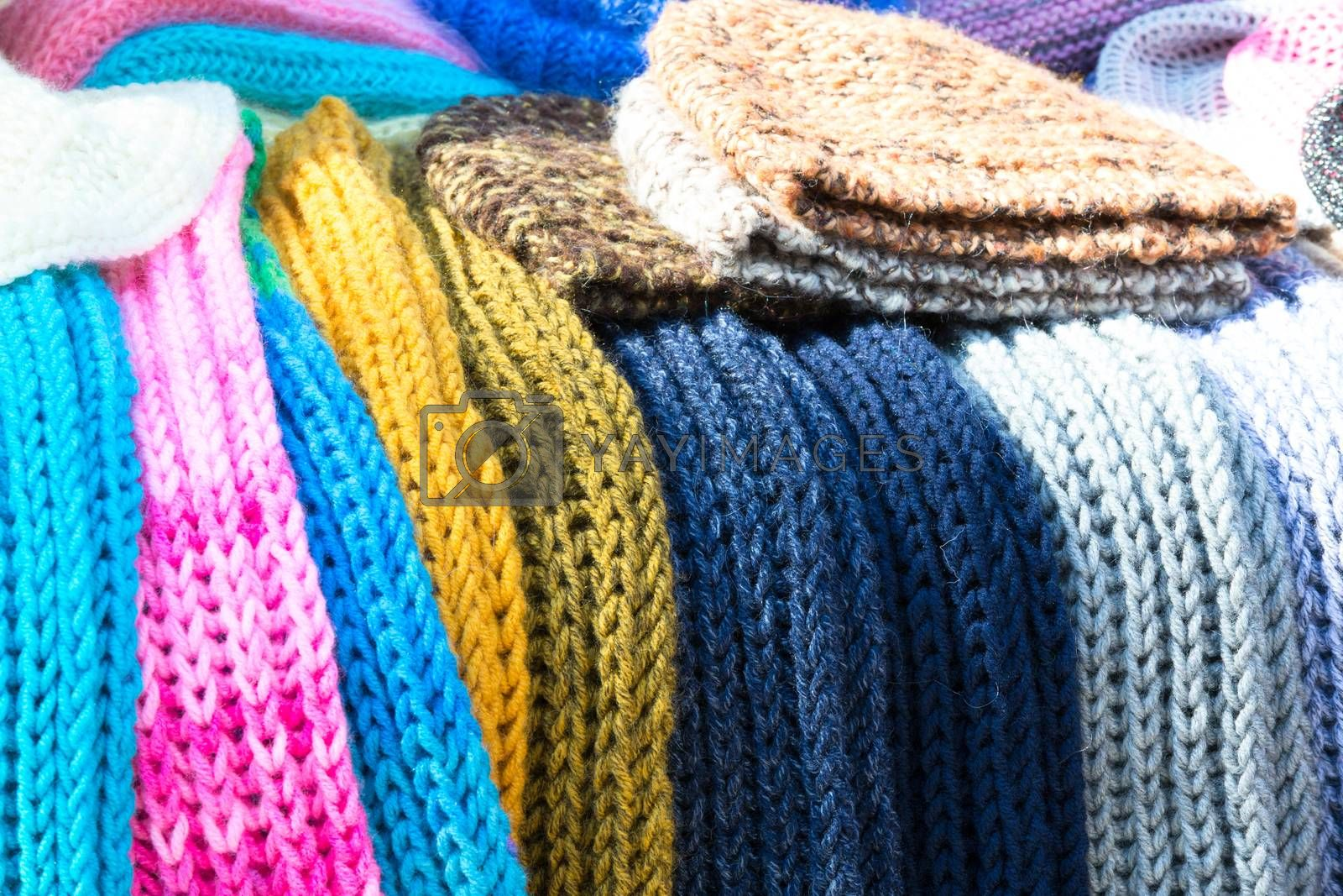 Knitted scarves and hats