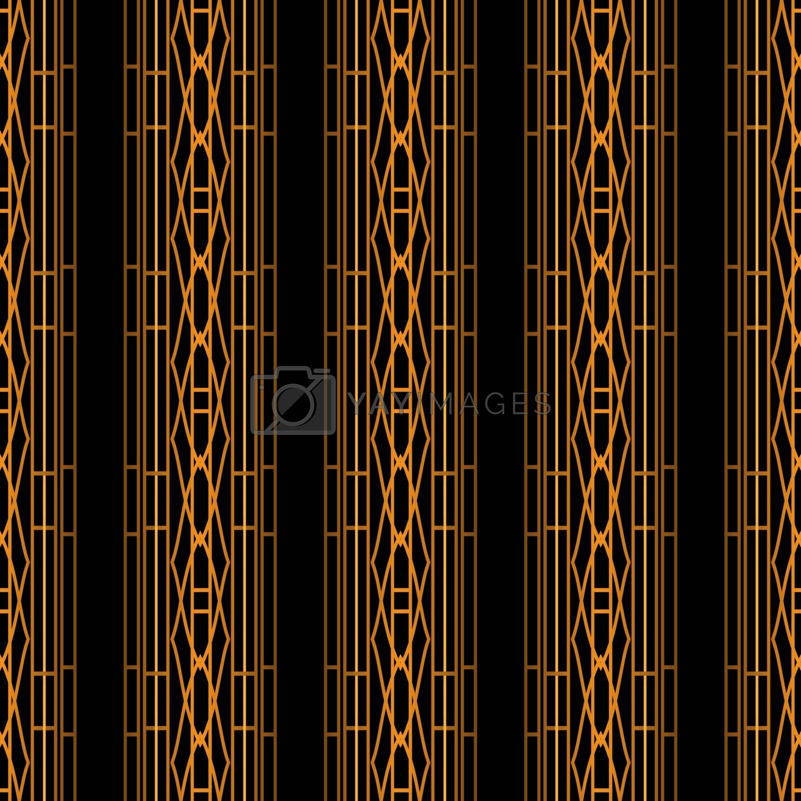 old fashioned elegant geometric black and gold ornament or wallpaper pattern