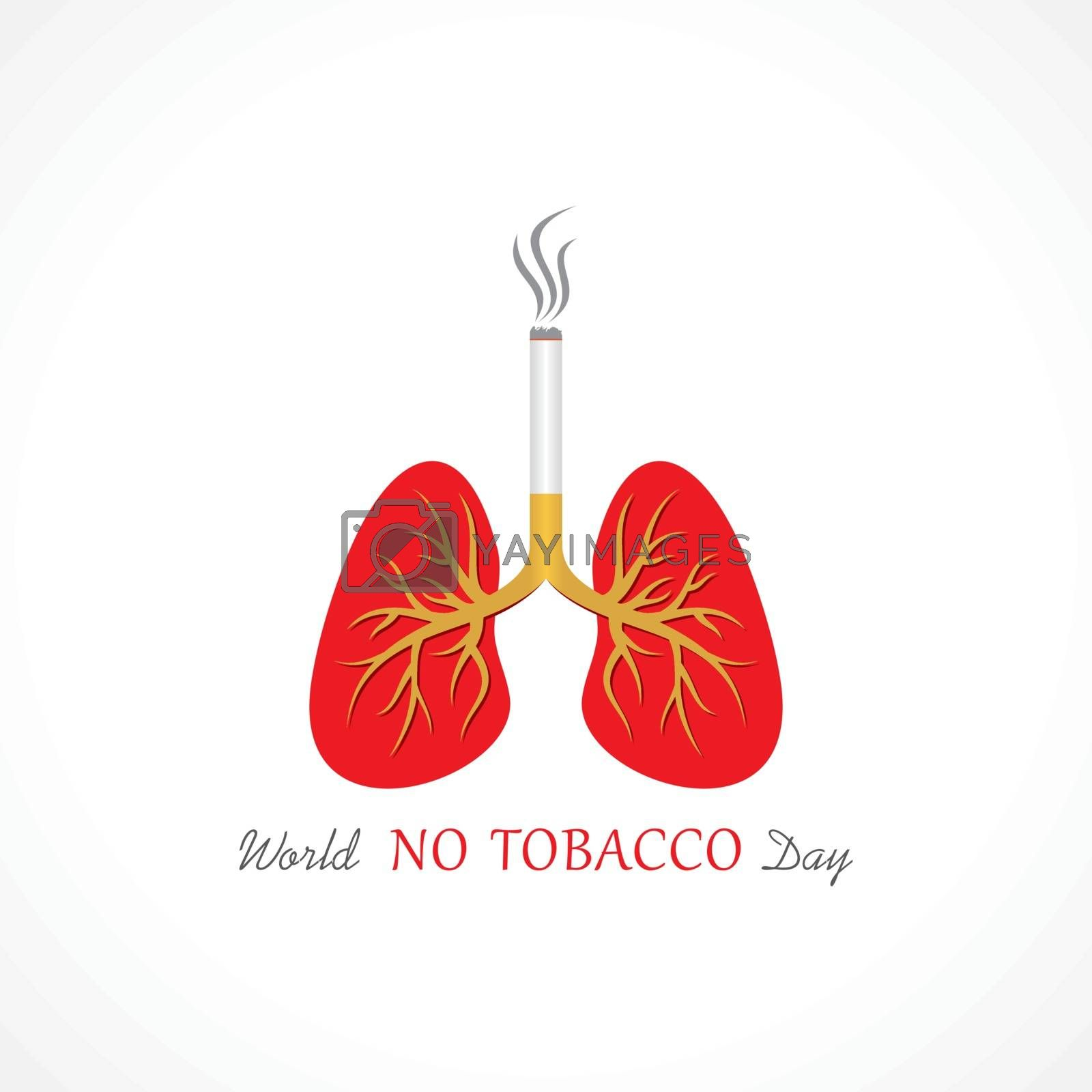 Illustration Of World No Tobacco Day which are held on 31 may,stop smoking concept