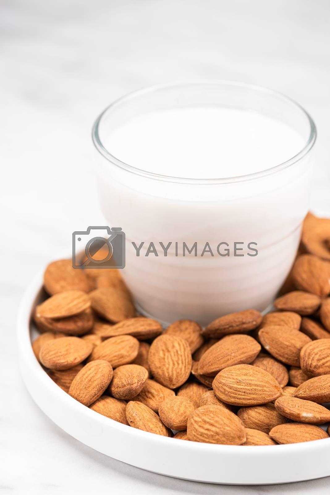 Almond Milk. Alternative Non Dairy Oraganic Milk. Plant Based Food.