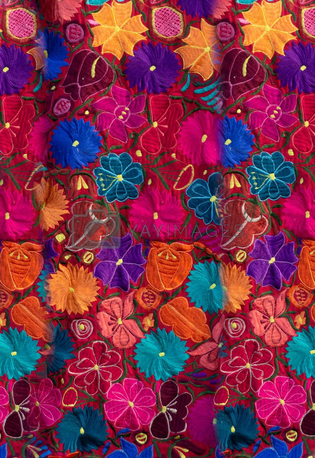 Oaxaca, Oaxaca / Mexico - 21/7/2018: (Traditional indigenous fabric from Oaxaca Mexico)