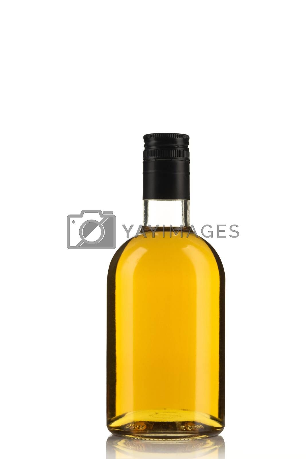 Bottle of Herbal Tincture or Alcohol Liqour Isolated on White Background.