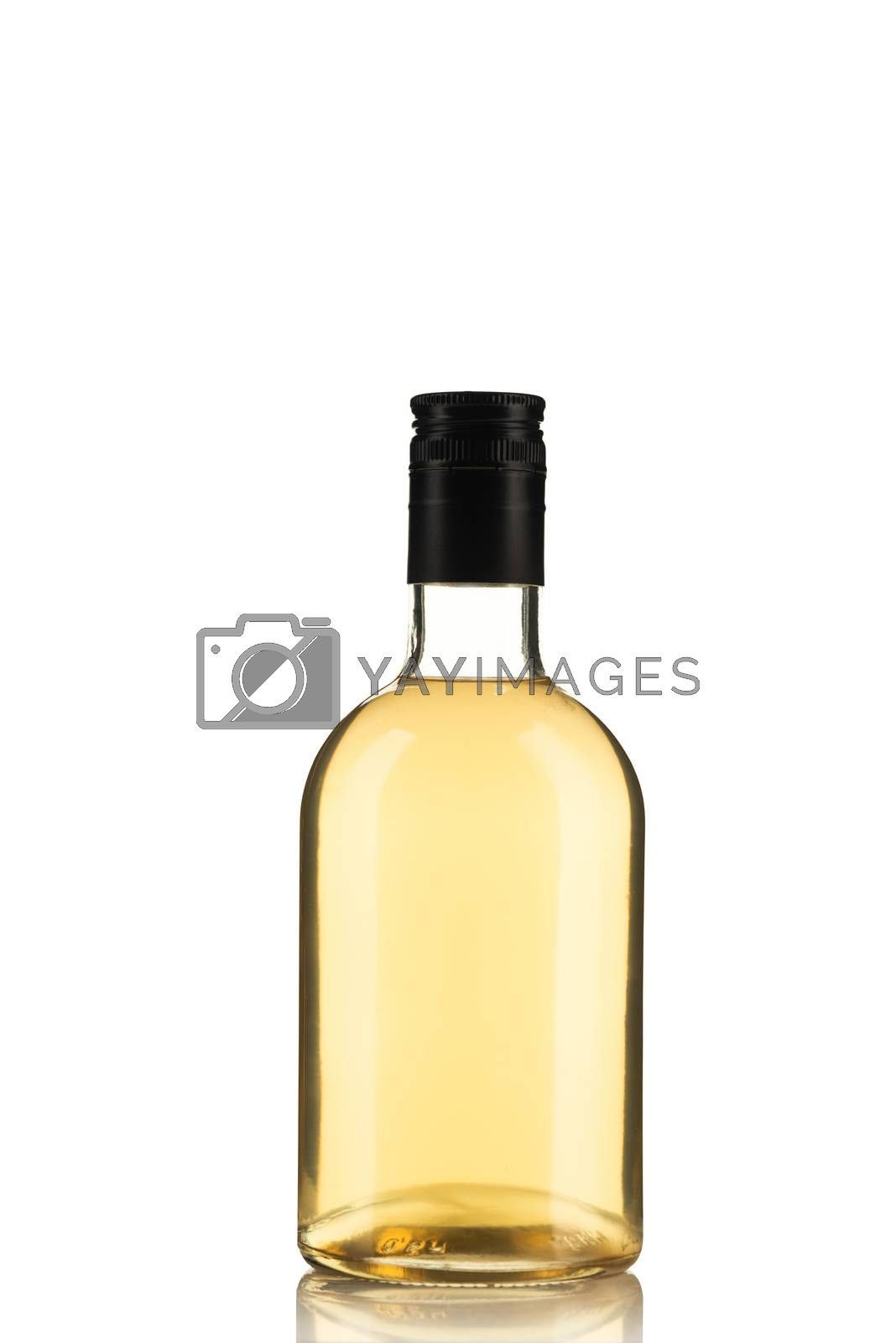 Bottle of Herbal Tincture or Alcohol Liqour Isolated on White Ba by merc67