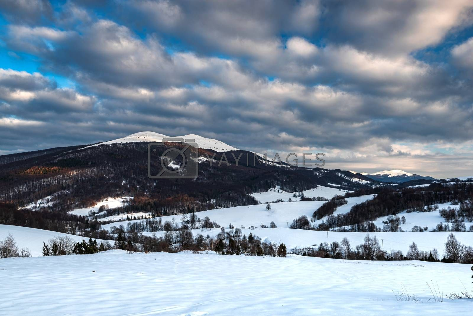 Cloudscape at Wetlina in Bieszczady Mountains, Poland at Winter  by merc67