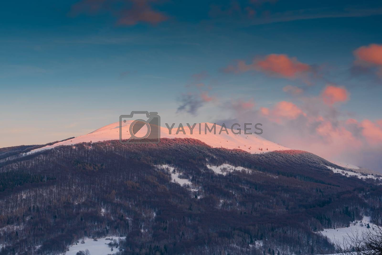 Sunrise over Polonyna Wetlinska and Carynska in Carpathian Mount by merc67