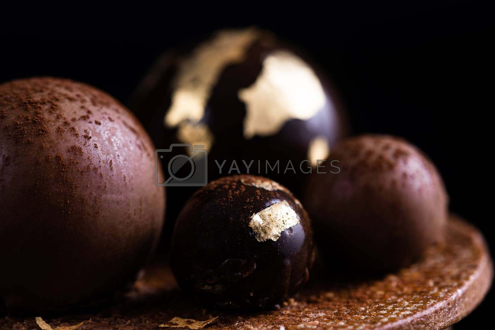 Handmade Patisserie Confection. Creative Art of Confectionery. Close Up Detail View.