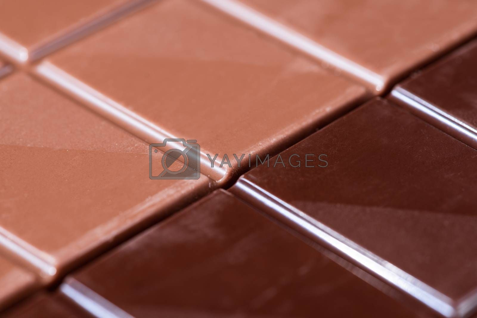 Chocolate Bar. Closeup Detail View. Top Down. Full Frame Backgro by merc67