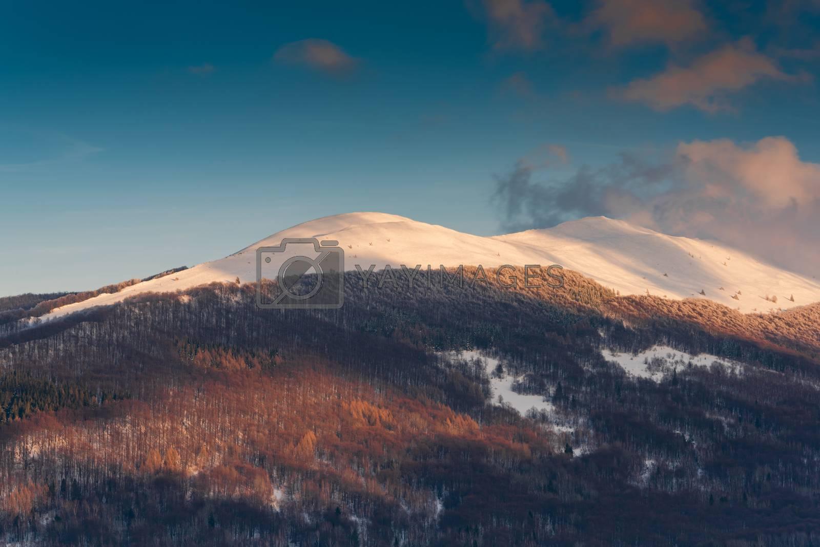 Polonyna Carynska and Wetlinska in Carpathian Mountains at Winte by merc67
