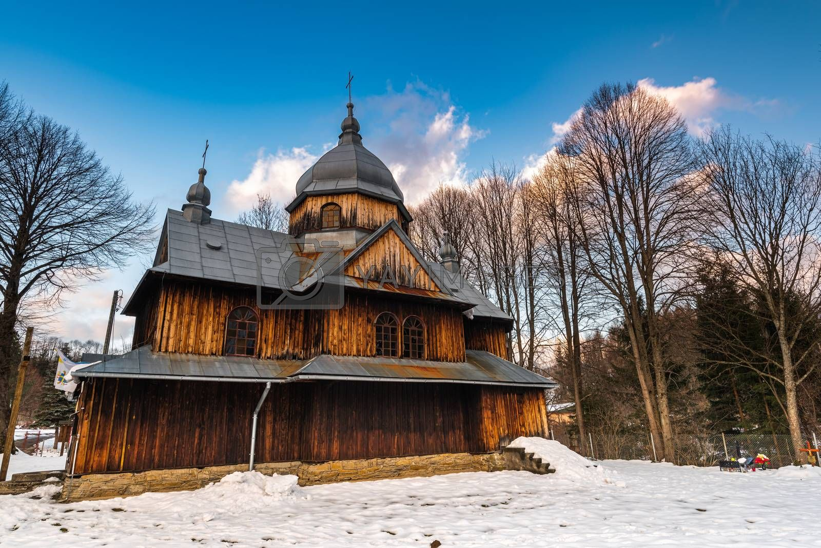 Exterior of St. Nicholas Orthodox Church in Chmiel.  Bieszczady  by merc67