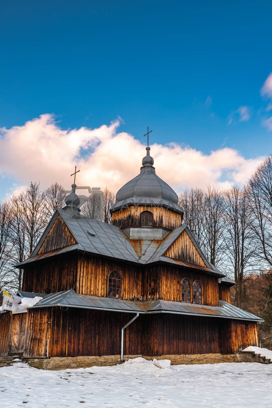St. Nicholas Orthodox Church in Chmiel. Carpathian Mountains and by merc67