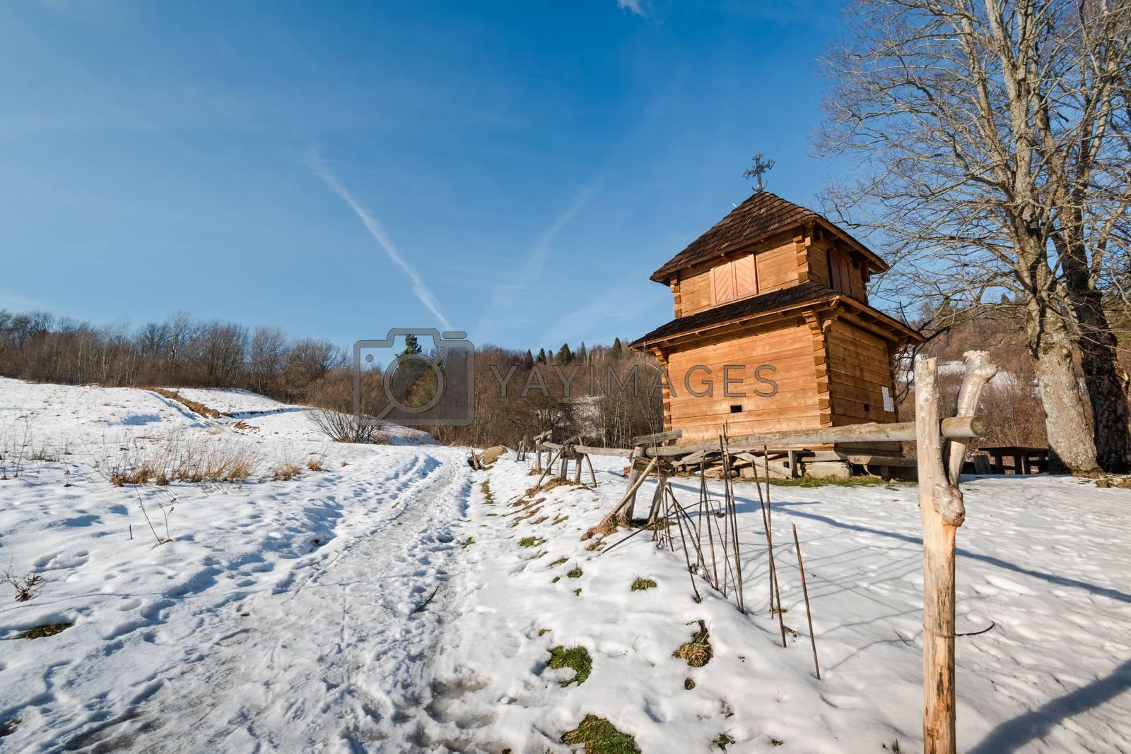 Exterior of Lopienka Orthodox Church.  Bieszczady Architecture i by merc67