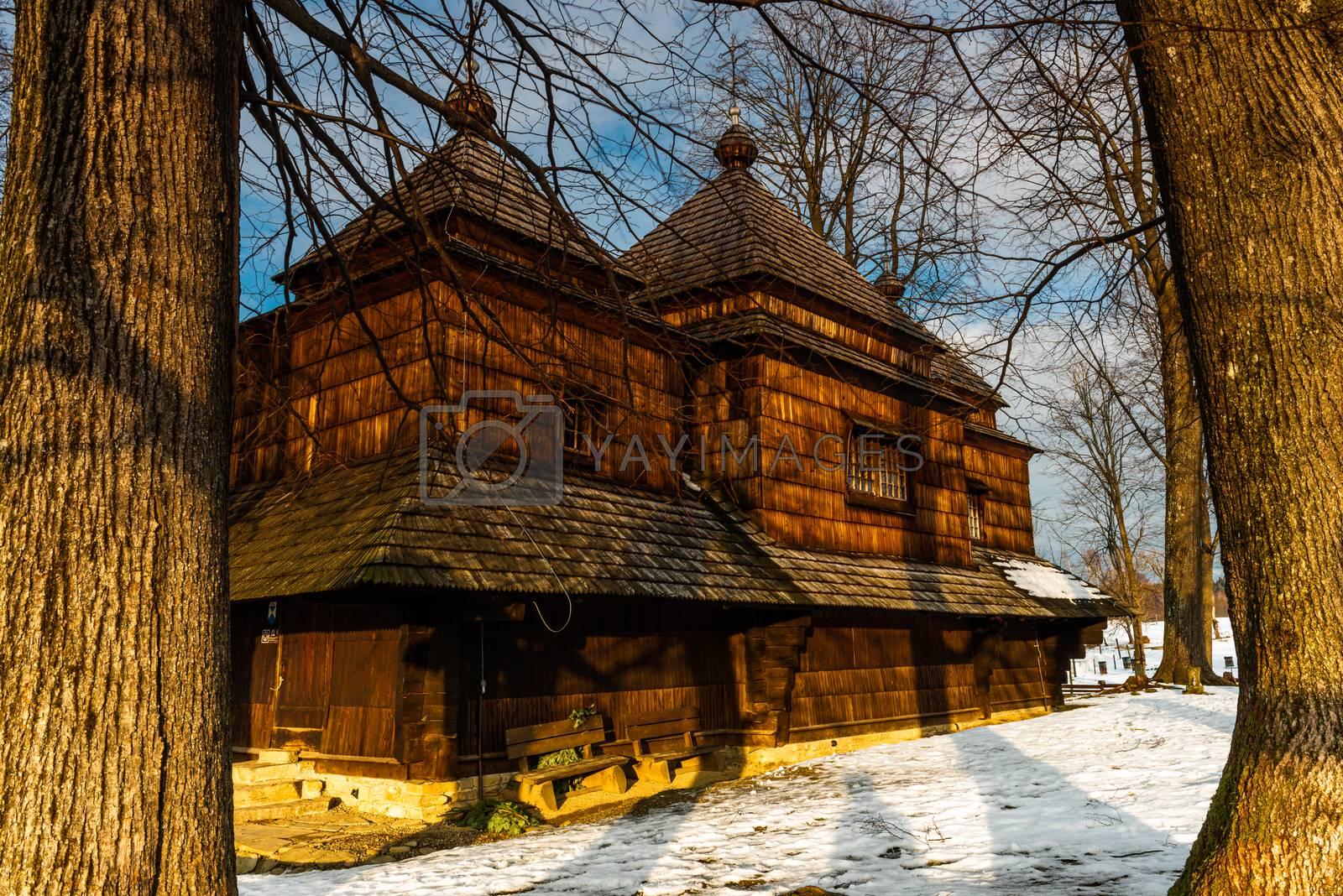 Smolnik Wooden Orthodox Church. Carpathian Mountains and Bieszcz by merc67
