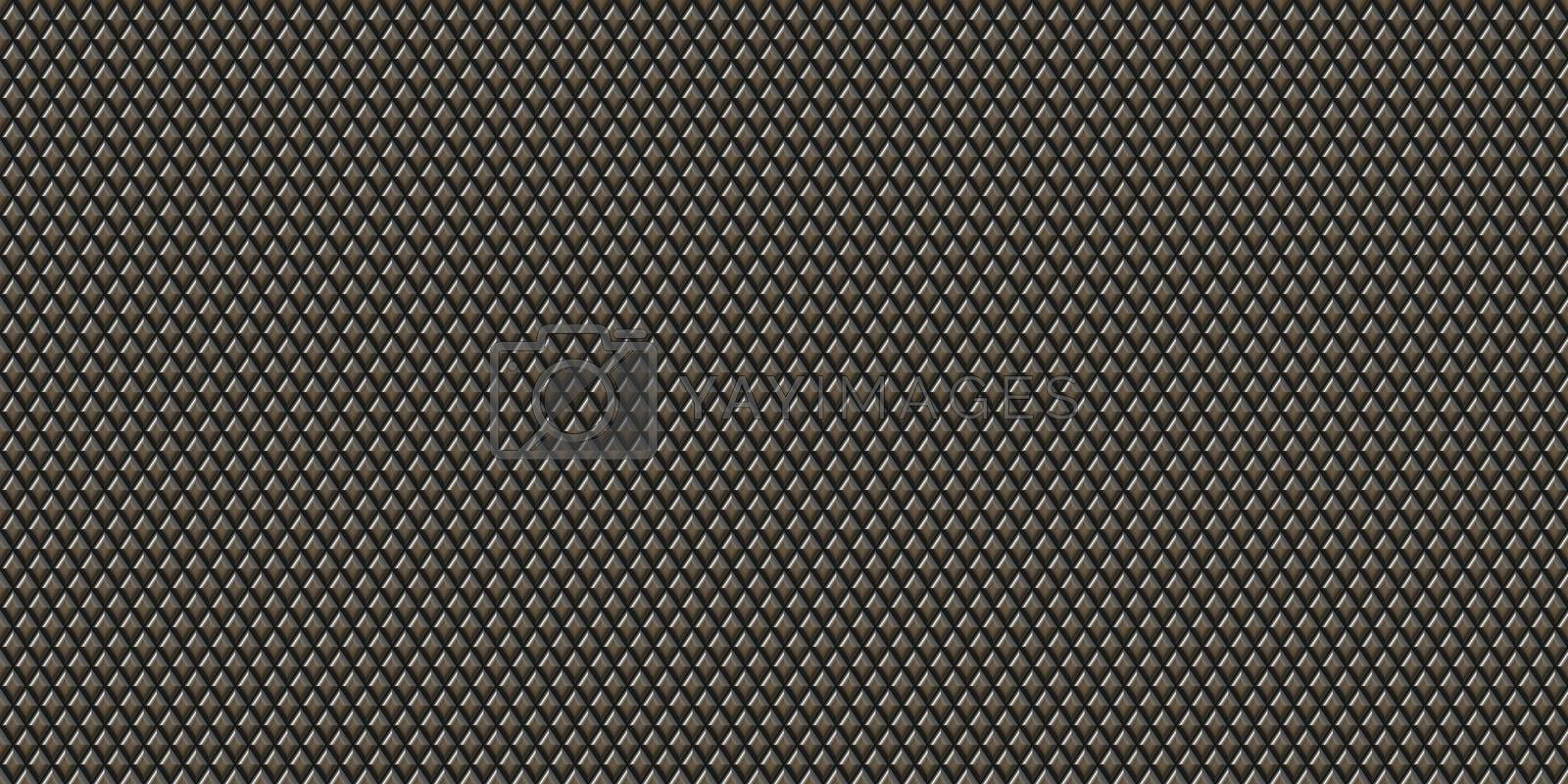 Knurl contact surface background. Metal rhombus pattern surface. Knurling touch texture.