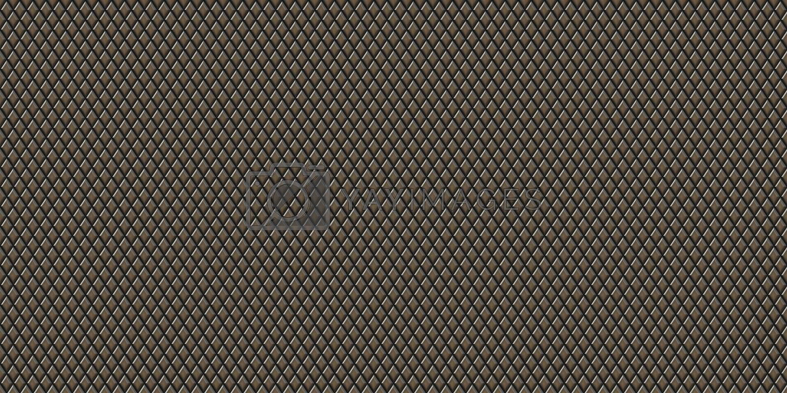 Metal rhombus pattern surface. Knurling touch texture. Knurl contact surface background.