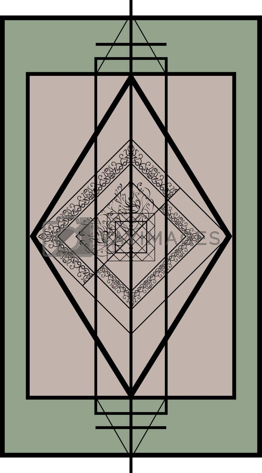 Geometric spring tracery in asian style by paranoido