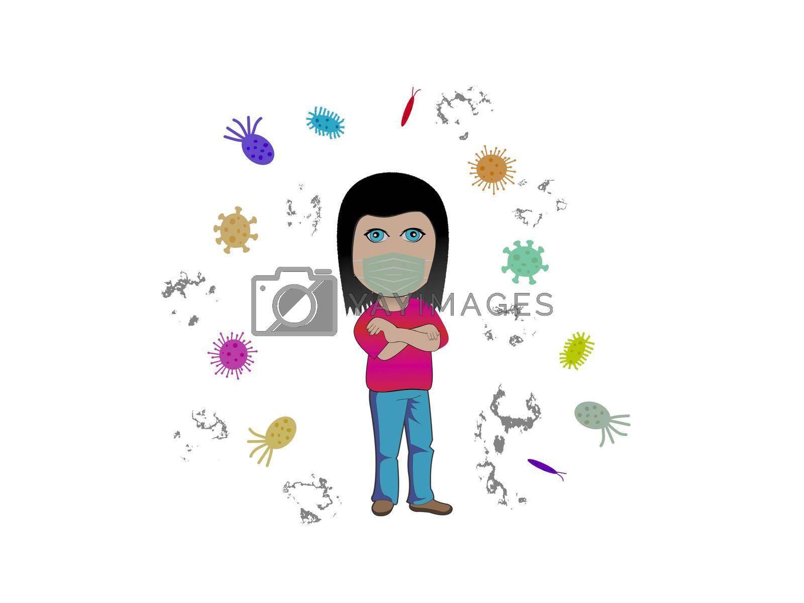stop coronavirus and europe white background - 3d rendering