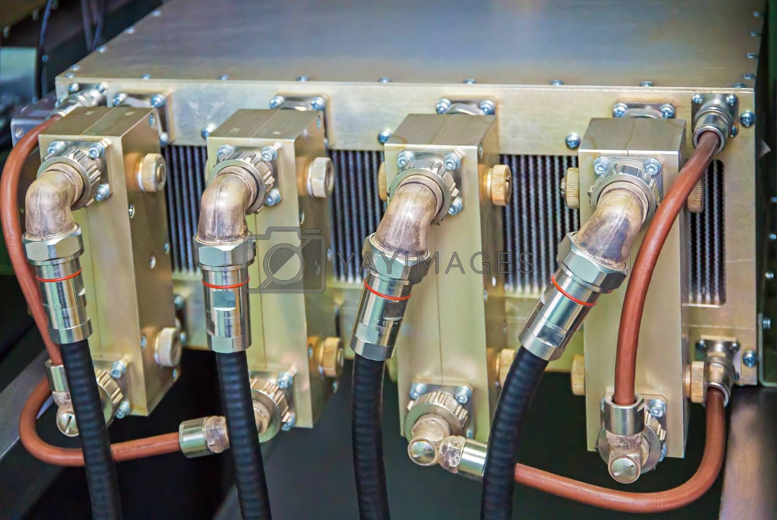 Separate block of digital television transmitter high-frequency range.