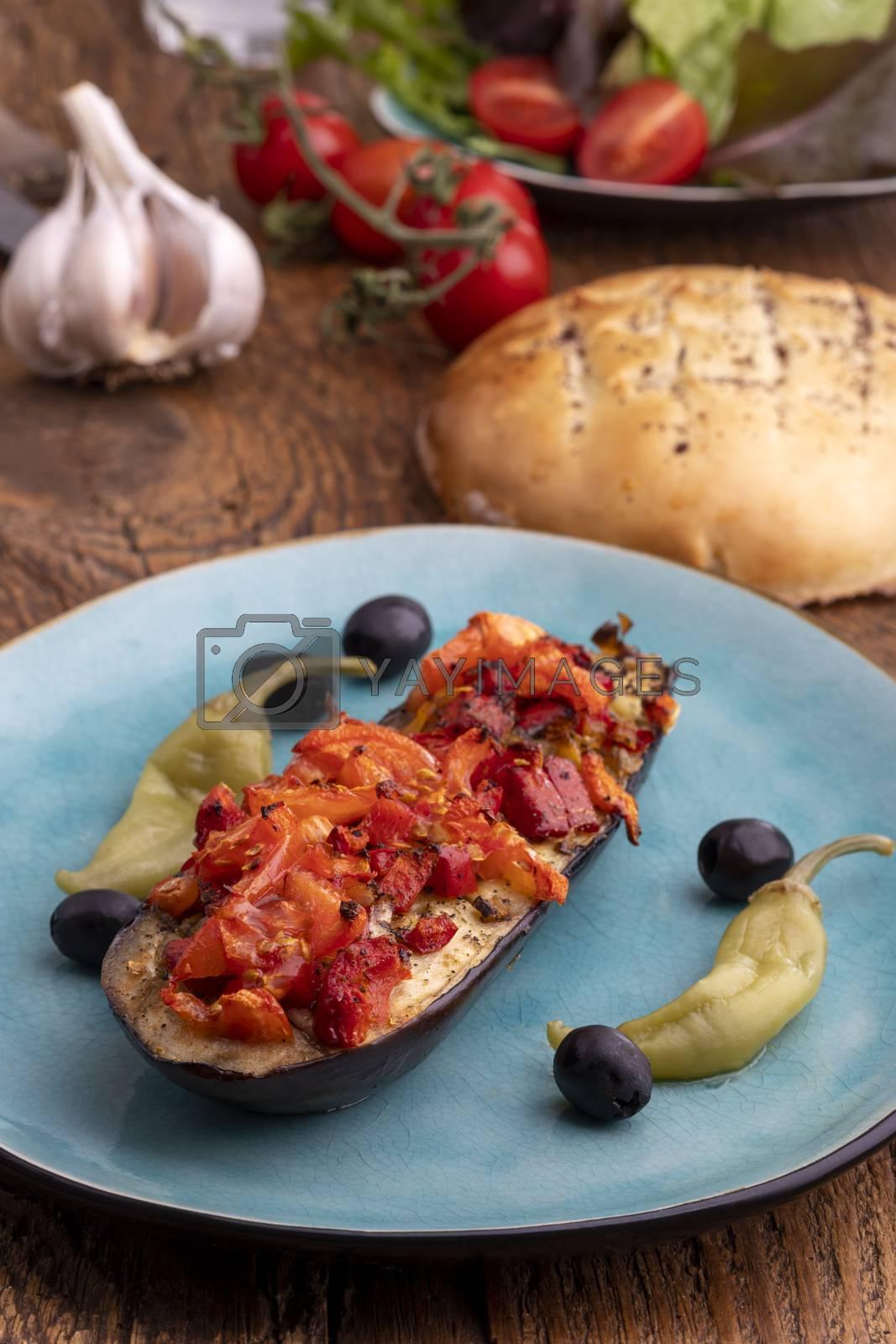 turkish karniyarik a stuffed aubergine