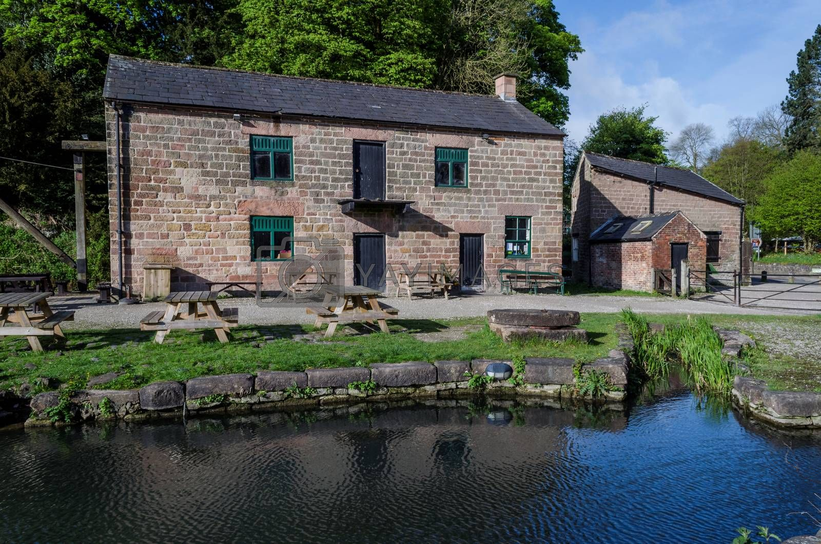 Old building at the side of Cromford Canal in the Peak District, Derbyshire