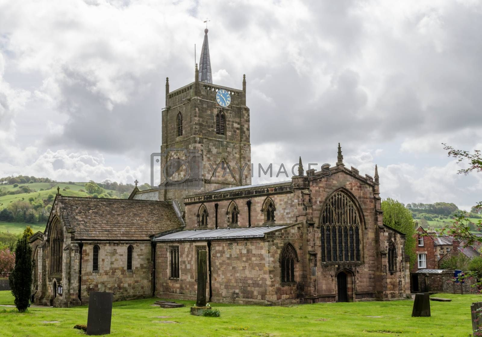 The church in the town of Wirksworth, Derbyshire