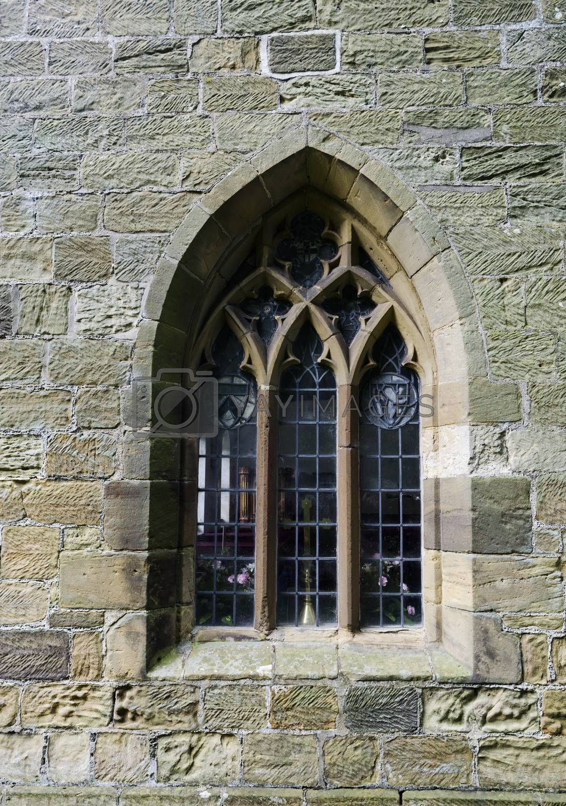 Typical English chapel side window